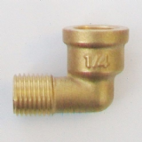 Male x Female Brass Foundry Elbow 1/4 inch BSP - 07002240